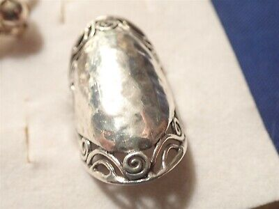 Grandmas Estate 925 Sterling Silver Old Pawn Big Chunky Ring