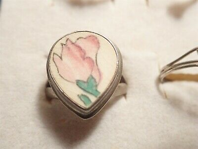 Grandmas Estate 925 Sterling Silver Old Pawn Cameo Chunky Ring