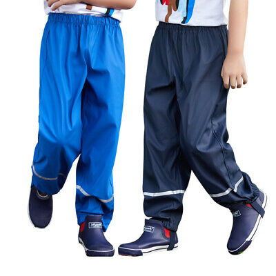 2019 Kindergarten children boys and girls outdoor rain pants waterproof trousers