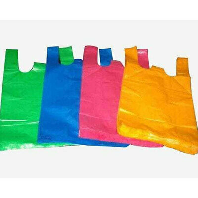Plastic Bags, Strong Plastic Vest Carrier Bags For Supermarkets Stalls NEW