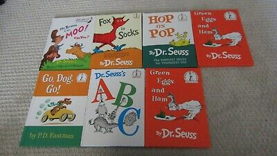 Lot of 7 Beginner Books l Dr.Seuss l P.D Eastman l Children l Free Shipping