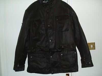 Oxford Heritage Wax Motor Cycle Jacket Size 3 X Xl 48 Inch Chest