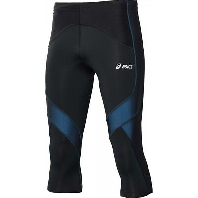 Asics Muscle Support Mens Black Blue Compression Training Tights 114507 8070 UW