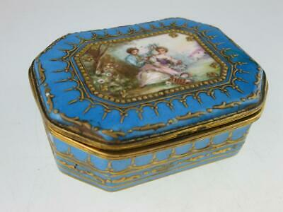 Antique 19th Century French Porcelain Sevres Box Circa 1850