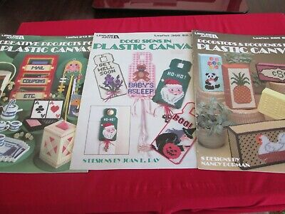 3X Plastic Canvas Creative Projects - Leisure Arts Leaflets / Pattern Books