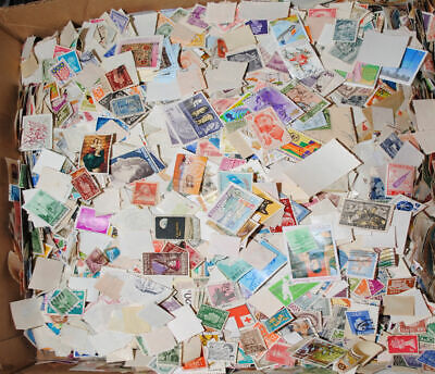 Foreign lot of used stamps 200 OFF PAPER, Plus a bonus amount of stamps