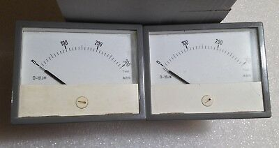 1mA 300 Scale Analog Panel Meter Pair