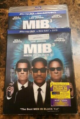 Mib3 Men In Black 3 Bluray 3D + 2D + Dvd New Sealed