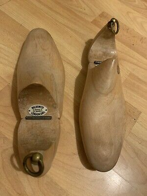 Pair Of London Marked Shoe Fillers Shoe Trees With Label Wild Smith