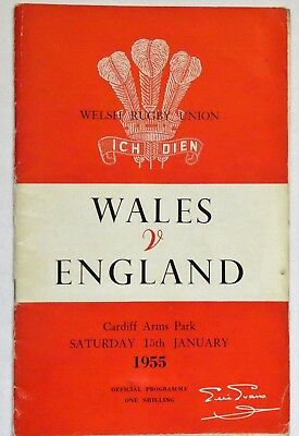 Wales England Rugby Union Programme 1955