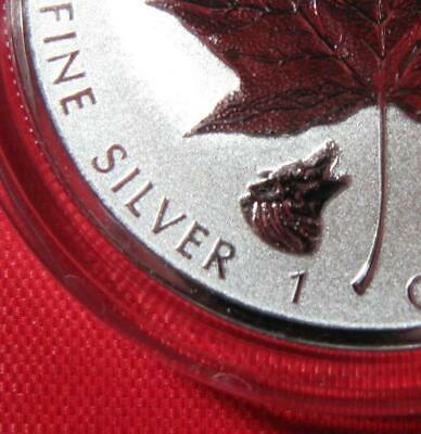 """2016 Silver $5 Maple """"WOLF"""" Privy .9999 1 oz ~ Reverse Proof - ONLY 50,000 Mint"""
