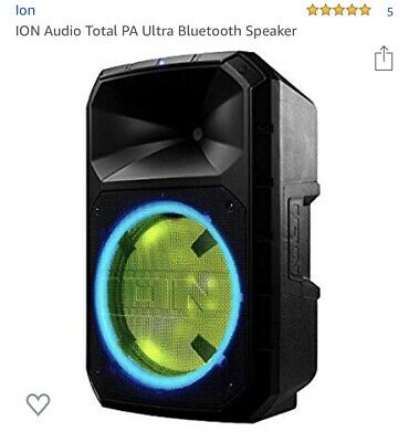 ION Audio Total PA High Power Ultra Bluetooth PA Speaker 500 WATTS ™