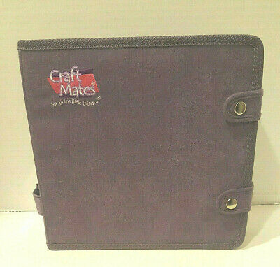 Craft Mates Organizer with 56 Double XL Compartments Lockables Purple Suede