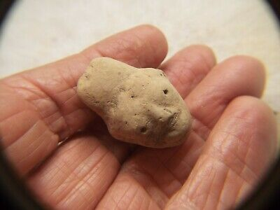 RARE Pre Columbian  500AD TO 1000AD CLAY  FIGURE HEAD LOT #13