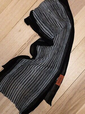 Missoni Made In Italy Gorgeous Silver And Black Viscose Mix Knit Scarf
