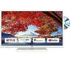 """JVC LT32C696 LED TV 32"""" Smart with Built-in DVD Player White"""