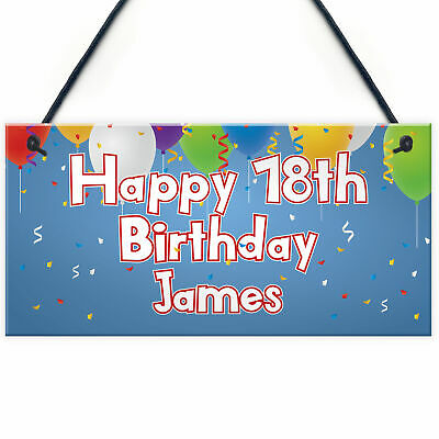 Personalised Birthday Party Plaques Decorations 16Th 18Th 21St 30Th