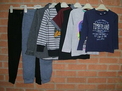 NEXT TIMBERLAND GEORGE etc Boys Bundle Jeans Jumpers Tops Age 5-6 116cm