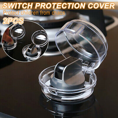 2X Kitchen Plastic Gas Oven Hob Cooker Knob Guards Covers Kids Safety Protection