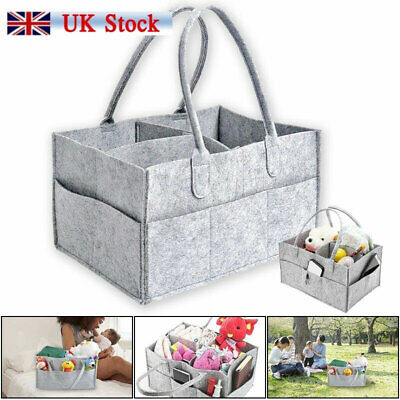 Baby Diaper Organizer Caddy Changing Nappy Kids Storage Large Pocket Carrier Bag