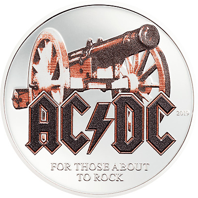 THOSE ABOUT ROCK AC/DC 1/2 Oz Silver Coin 2$ Cook Islands 2019