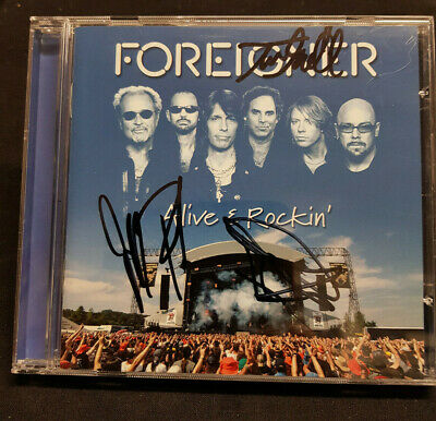 FOREIGNER - Multi Signed CD by 3 - Alive and Rockin - MUSIC