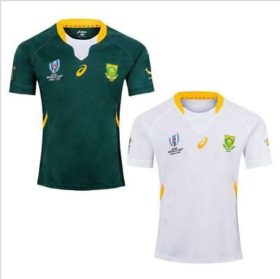 2019South Africa Rugby World Cup Home Shirt 2019 Rwc Adult Jersey