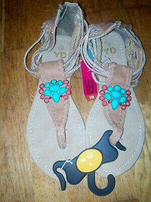 Bnwt Primark Young Dimension Girls Brown Sandals Size Uk 5