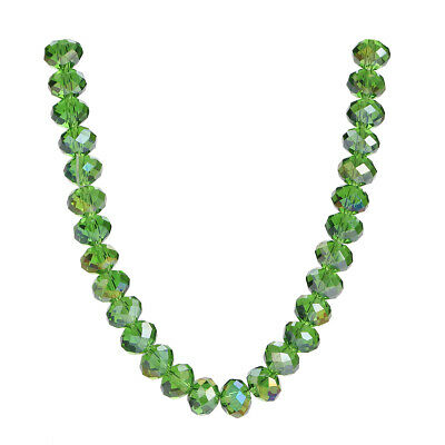 Spacer Beads Necklace Findings Craft Glass Bulk Crystal Loose Wholesale Faceted