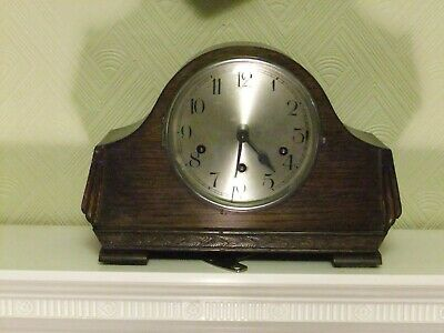 Vintage 1930's Deco Westminster Chime pendulum mantle clock with key