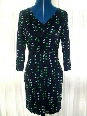 Boden Navy Blue Dotty 3/4 Sleeve Mini Dress - Size 8