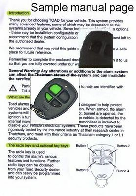 Toad alarm Ai606 User manual
