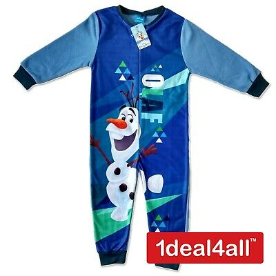 Disney Frozen Olaf Kids All in One Boys Girls Childrens Sleepsuit Pyjamas PJ's