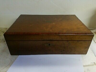 Antique Wood And Brass Lap Desk