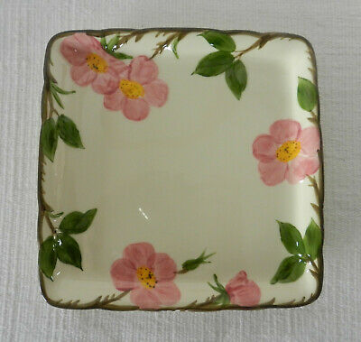 FRANCISCAN china Desert Rose USA Square Tray or Plate 8 1/4 inch MINT Condition