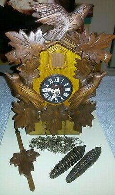 Hubert Herr Bkack Forest Cuckoo Clock Fully Restored