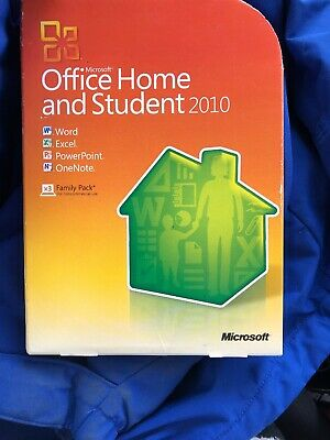 Microsoft Office Home and Student 2010 Word Excel PowerPoint One Key Code