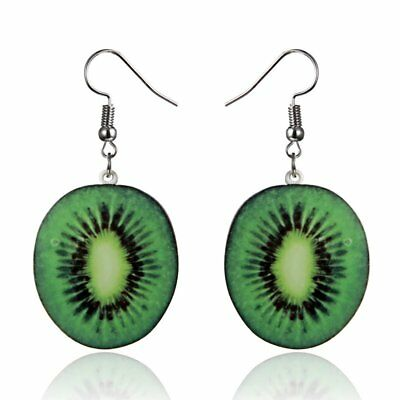 New Women Lady Fashion Cute Fruit Kiwi Drop Dangle Hook Earrings Jewellery Gift