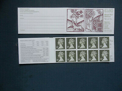 Fu6A £1.80 Linnean Society Left Margin Gb Stamp Booklet