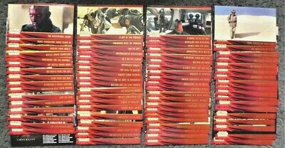 Complete 80 Card Base Set Star Wars Episode 1 Widevision Trading Cards by Topps