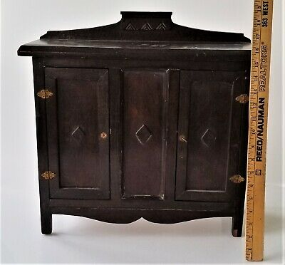 "antique wood CHILD DOLL 18"" SALESMAN SAMPLE art deco wood FURNITURE chest BUFFET"
