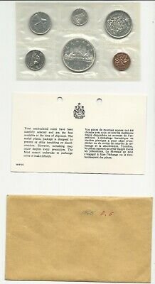 1965 Canada Silver Proof Like Mint Set Pl With Original Coa + Envelope!!