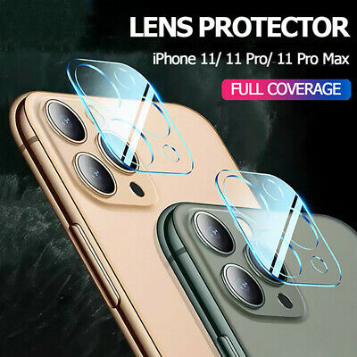 2x For iPhone 11 Pro Max FULL COVER HD Tempered Glass Camera Lens Screen Protect