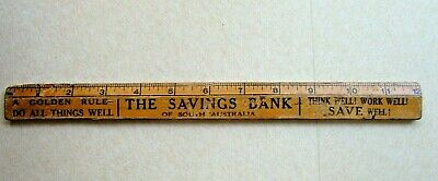 THE SAVINGS BANK of SOUTH AUSTRALIA ADVERTISING RULER 12 INCHES 1960's SHOW BAG