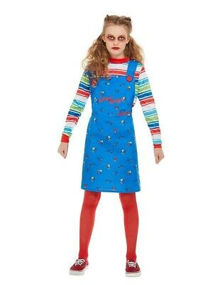 Chucky Girls Costume Outfit And Free Gift Size M 7-9 Years