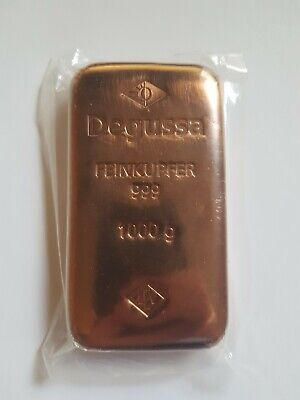 Germany Degussa Feinkupfer 500g 500 gram .999 Fine Copper Cast Bar