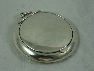 SOLID silver miniature COMPACT, 1938, 12gm