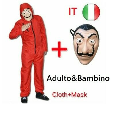 La casa de papel Season Cosplay Casa di carta Custumi Colpo di soldi Unisex IT