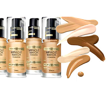 Max Factor Miracle Match Foundation Blur & Nourish Choose Shade New Sealed