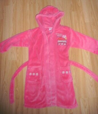 Girls pink super soft Peppa Pig dressing gown age 4-5 years immaculate Christmas